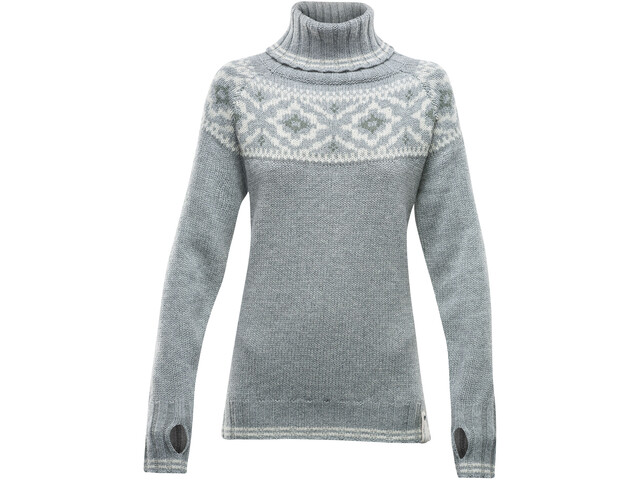 Devold Ona Round Sweat-Shirt Femme, grey melange
